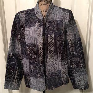 🌟EUC Dress Barn Suit Jacket Blue/Silver Size: L